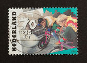 HOLLAND - CIRCA 1990: Stamp printed in the Netherlands — Stock Photo