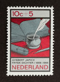 HOLLAND - CIRCA 1960: Stamp printed in the Netherlands — Stockfoto