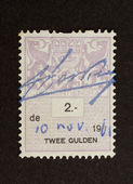 HOLLAND - CIRCA 1970: Stamp printed in the Netherlands — Stockfoto