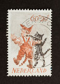 Голландия - около 1970: штамп напечатан в Нидерландах — Стоковое фото