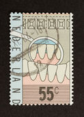 HOLLAND - CIRCA 1980: Stamp printed in the Netherlands — Stock fotografie