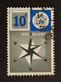 HOLLAND - CIRCA 1950: Stamp printed in the Netherlands — Stok fotoğraf