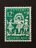 HOLLAND - CIRCA 1950: Stamp printed in the Netherlands — Stock Photo