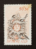 HOLLAND - CIRCA 1980: Stamp printed in the Netherlands — Foto de Stock