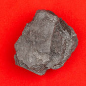 Rough specimen of black coal — Stock Photo