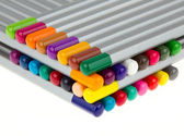 Lasagna of many different color pencils — Stock Photo