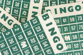 Green bingo cards isolated — Stock Photo