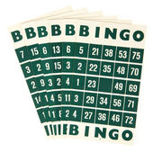 Green bingo cards isolated — Stok fotoğraf