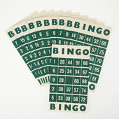 Green bingo cards isolated — Stock Photo