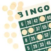 Green bingo card isolated — Stock Photo