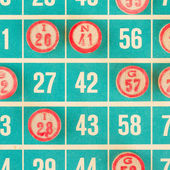 Wooden numbers used for bingo — Stock Photo