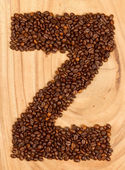 Letter Z, alphabet from coffee beans — Stock Photo