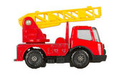 Very old toy car (1970), firetruck — Stock Photo