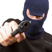 Photo of terrorist with gun — Stock Photo