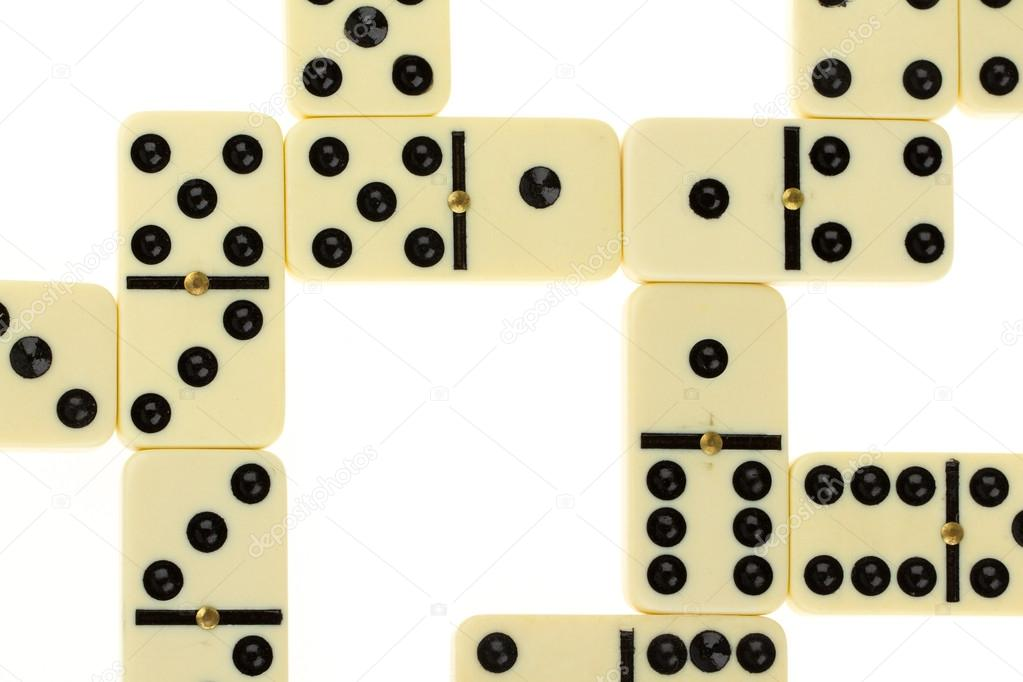 Close up of domino on a white background  Stock Photo #12501848