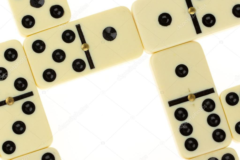 Close up of domino on a white background — Stock Photo #12501849