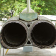 The exhaust of an old Vietnam war-plane — Stock Photo