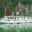 Tourist Boat in Halong Bay, Vietnam — Stock Photo #14005833