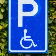 Parking sign for disable — 图库照片