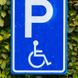 Parking sign for disable — Foto Stock