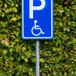 Stock Photo: Parking sign for disable