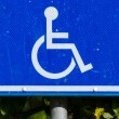 Parking sign for disable — Stock Photo