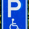 Parking sign for disable — Stock Photo #14006055