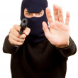 Photo of terrorist with gun — Stock Photo #14006263