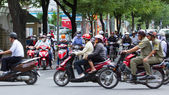 SAIGON - JULY 23: A busy and congested road in Hanoi, Vietnam, J — Stock Photo