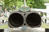 The exhaust of an old Vietnam war-plane — Stock Photo