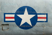 Tail of Vietnam war Airplane — Stock Photo