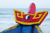 Colorful wooden fishing boat at the sout chinese sea — Stock Photo