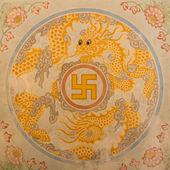 Swastika symbol in decoration — Stock Photo