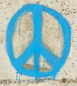 Simple graffity on a concrete wall (piece) — Stock Photo