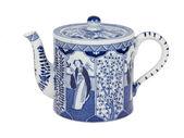 Zabytkowe holenderskie czajnik w delft blue, holandia — Zdjęcie stockowe