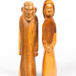 Carving of Josef and Maria, part of Christmas stable — Stock Photo #14800525