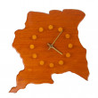 Wooden clock in the shape of the country Suriname — Stock Photo