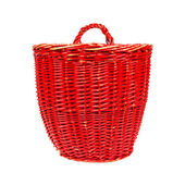 Very old red basket — Stock Photo