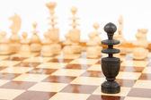 Black chess bishop isolated — Stock Photo