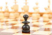 Black chess pawn isolated — Stock Photo