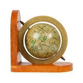 Pequeno globo antigo decorativo, isolado — Foto Stock