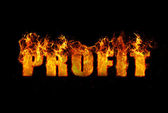 Conceptual image illustrating the word Profit — Stock Photo
