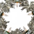 Close-up of a silver Christmas star — Stock Photo