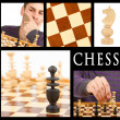 Stock Photo: Compilation of game of chess, series of five