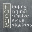 Focus acronym — Stock Photo