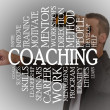 Stock Photo: Coaching cloud concept