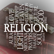 Religion word cloud - Stock Photo