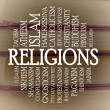 Stock Photo: Religions word cloud