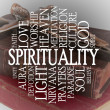 Spirituality word cloud - Stock Photo