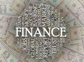 Finance word cloud — Zdjęcie stockowe